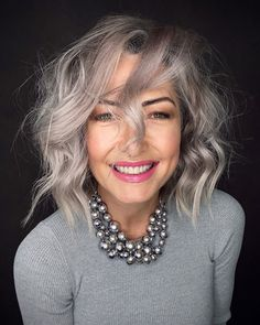 Grey Hair Care, Short Grey Hair, Short Hair Cuts, Short Hair Styles, Braided Hairstyles, Wedding Hairstyles, Cool Hairstyles, Natural White Hair, Grey Hair Inspiration