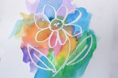 Simple activity to illustrate that even though something can't be seen, it does exist.  Faith. 1. Draw a picture on white paper with a white crayon. 2. Dip a wet paint brush into your watercolor paint and glide the brush across paper to reveal the crayon drawing.