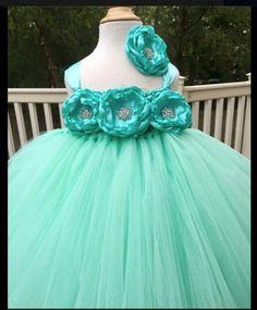1ecff296dcca Mint Flower Girl Dress | Shabby Flower Dress | Mint Tulle Dress | Wedding  Dress | Flower Girl Mint Tulle Dress| My Precious Tutu
