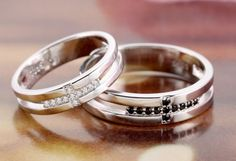 Christian Silver Celtic Cross CZ Wedding Engagement Rings Set