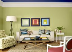 Benjamin Moore Paint Colors   Green Living Room Ideas   Masterfully Modern  Living Room   Paint