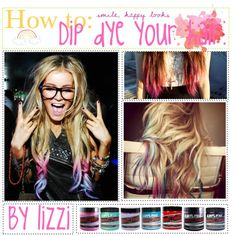 How to dip dye hair. ♥ I am So doing some form of dying next summer...