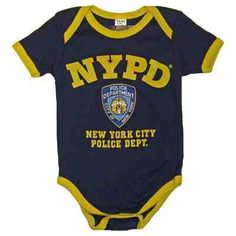 2f53f80bc Navy NYPD baby onesie with NYPD and shield on front. Show your support for  new yorks finest with this baby onesie.