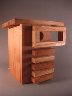 Mid Century Modern birdhome. Original creation by chürp. on Etsy, $59.00