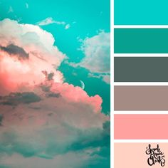 25 Color Palettes Inspired by Spectacular Skies & PANTONE Classic Blue - Pastel Sky // The sky is such an amazing canvas! Enjoy these color combinations inspired by spectacu - Scheme Color, Color Schemes Colour Palettes, Pastel Colour Palette, Colour Pallette, Color Palate, Room Color Schemes, Decorating Color Schemes, Color Schemes For Bedrooms, Kitchen Color Schemes