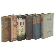 A collection of antique books to display, without having to sacrifice your own trasured collection.