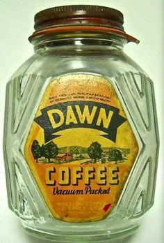Vintage Jars, Vintage Food, Vintage Coffee, Vintage Recipes, Vintage Kitchen, Vintage Items, Coffee Jars, Coffee Tin, Coffee Drinks