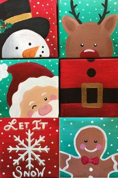 View Paint and Sip Artwork - Pinot's Palette Holiday Canvas, Christmas Paintings On Canvas, Cute Canvas Paintings, Mini Canvas Art, Mini Paintings, Easy Paintings, Painting For Kids, Diy Painting, Easy Canvas Painting