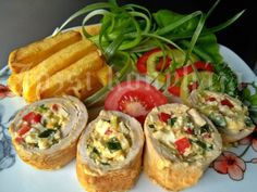 Göngyölt karaj | Józsi konyhája Baked Potato, Potatoes, Baking, Ethnic Recipes, Foods, Recipes, Food Food, Food Items, Bakken
