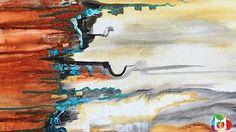 Acrylmalerei abstract acrylic painting Demo Abstraktes Bild malen /spachteln -spackle - YouTube