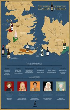 We've got the wines, regions and characters to help you uncover the world of wine in Game of Thrones.