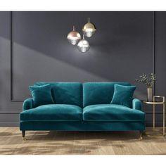 Teal Velvet Sofa, Teal Couch, Blue Velvet Sofa Living Room, Teal Living Rooms, Living Room Decor, Sofa For Living Room, Sofa Upholstery, Large Sofa, Chester