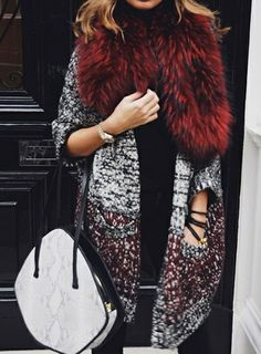 faux fur accents | Winter chic.