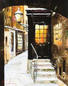 Gleb Goloubetski art | London Winter by Gleb Goloubetski