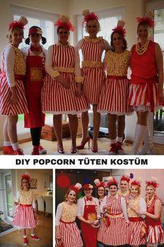 Ein tolles #LastMinuteKostüm alleine oder für eine Gruppe. Ein absoluter Hingucker! Selbstgemachtes #PopcornTütenKostüm #Gruppenkostüm #selbstgemachtesKostüm #Karneval #Köln #Alaaf #Popcorn #party