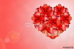 """Descargue la foto libre de derechos """"Background Flowers heart valentine day"""" creada por graciela rossi al precio más bajo en Fotolia.com. Explore nuestro económico banco de imágenes para encontrar la foto perfecta para sus proyectos de marketing."""