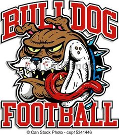 Vector - crazy bulldog football design - stock illustration, royalty free illustrations, stock clip art icon, stock clipart icons, logo, line art, EPS picture, pictures, graphic, graphics, drawing, drawings, vector image, artwork, EPS vector art