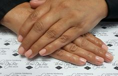 Biosculpture gel overlays on very short nails colour #210 #SpunOutOfDreams