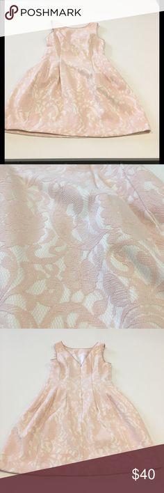 Aidan Aidan Mattox Blush Lace Dress Beautiful fit and flare blush lace dress by Aidan by Aidan Mattox. Worn Once. Aidan Mattox Dresses