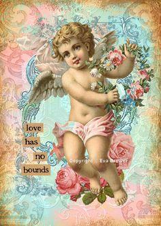 Valentine collage art original digital download por magymai711, $5.00