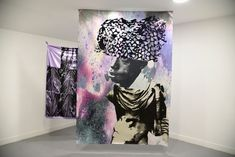 Raphaël Barontini Curtains, Shower, Prints, Artwork, Altars, Impressionism, Paintings, Radiation Exposure, Fabrics