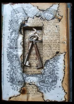 Keys in an old book