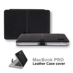 "the best New Black Premium Quality Leather Skin Case Cover for Apple Macbook Pro 13"" [SmackTom Packaging]"