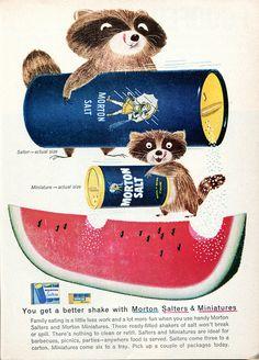 Morton Salt Advertisement Readers Digest July 1958 by SenseiAlan on Flickr.
