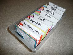 Great tip for organizing your Bob Books!
