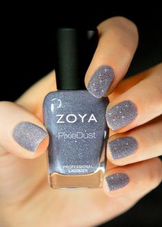 Matte Glitter Nail Polish!  | See more nail designs at http://www.nailsss.com/acrylic-nails-ideas/2/