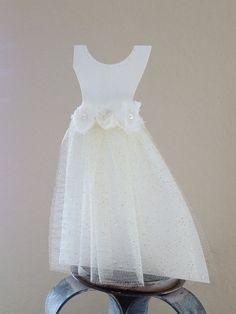 Wedding dress shape card. Bridal Card. On your by CallMeCraftie