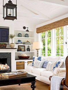 34 Stunning Modern Coastal Living Room Decoration - Home Design Design Living Room, Home Living Room, Living Room Decor, Casual Living Rooms, Living Spaces, Cozy Living, Small Living, Living Area, Modern Living