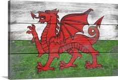 Items similar to Rustic Wales Country Flag (Art Prints, Wood & Metal Signs, Canvas, Tote Bag, Towel) on Etsy Wall Art Prints, Framed Prints, Canvas Prints, Big Canvas, Wales Country, Different Flags, Flag Art, Contemporary Paintings, Barn Wood