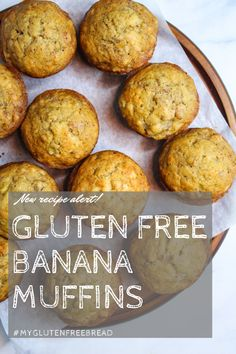Warm, fresh from the oven and perfectly sweetened gluten free banana muffins will satisfy that craving for banana bread but in less than half the time! This recipe makes the softest, most perfectly tender muffins ever. #glutenfreemuffins #glutenfreerecipes #glutenfreebaking #dairyfreebaking Dairy Free Muffins, Gluten Free Pancakes, Gluten Free Banana, Gluten Free Recipes For Lunch, Gluten Free Treats, Gluten Free Cookies, Gluten Free French Toast, Dairy Free Baking, Gluten Free Flour Mix