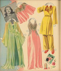 VINTAGE UNCUT 1942 RITA HAYWORTH PAPER DOLLS HD~LASER ORG SZ REPRODUCTION~LO P | eBay