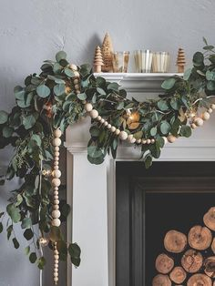 These Holiday Mantel Decor Ideas Are On FireYou can find Seasonal decor and more on our website.These Holiday Mantel Decor Ideas Are On Fire Christmas Mantels, Noel Christmas, Christmas Wreaths, White Christmas, Bohemian Christmas, Christmas Villages, Victorian Christmas, Homemade Christmas, Christmas Tree Ideas