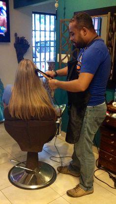 Plancha para cabello con extenciones