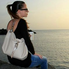 News!!!! A bag created by the specific request of a customer... Leather shoulder bag made of Italian super soft leather and details in snake printed leather... www.genuinemyself.com