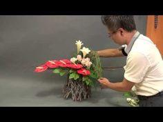 B39 創意插花—平行插法 Flower Arrangement   Parallel insertion skill - YouTube