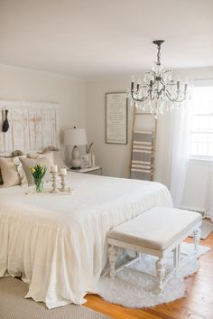Our French Country Farmhouse Bedroom Tour | Lynzy & Co.