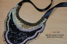 Bead and Chain Bib Necklace. Frugal-nomics.scom