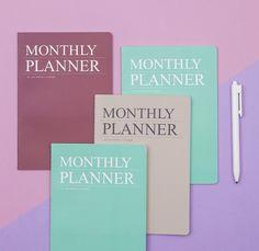Dubu Monthly Planner / 2019 Planner, Planner Diary, Undated Bullet Journal, Korean S Monthly Planner, Academic Planner, Study Planner, School Supplies, Craft Supplies, Korean Stationery, Diy Notebook, Bullet Journal, How To Plan