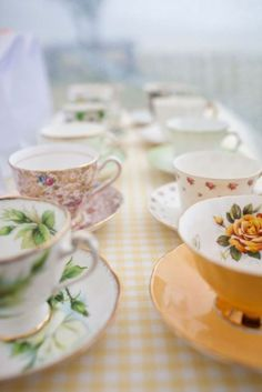 before kids I collected tea cups. I wouldn't mind doing that again