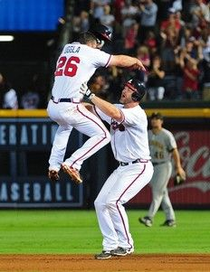 I think Uggla was happy the Braves won.