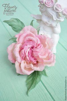 "Цветы ручной работы. Роза ""Princesse Grace"". Цветы из шелка. Оксана Чистова (Flower Festival). Ярмарка Мастеров."