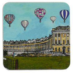 Balloons Over Royal Crescent Bath Coaster