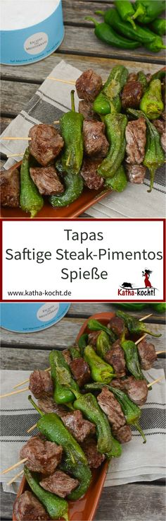 Tapas, Kiss The Cook, Nutritious Meals, Asparagus, Green Beans, Steak, Bbq, Food And Drink, Vegetables
