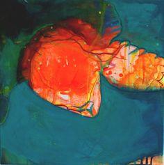 Beatrice Richter: Lonesome George. Acryl, Tusche auf Leinwand #Schildkröte #turtle #abstrakt #Malerei #beatricerichter #startyourart www.startyourart.de