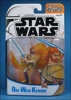 2003 Obi-Wan Kenobi Star Wars The Clone Wars Action Figure by hasbro NIP NIB