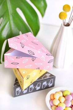 These colorful DIY print boxes are perfect for gifts.